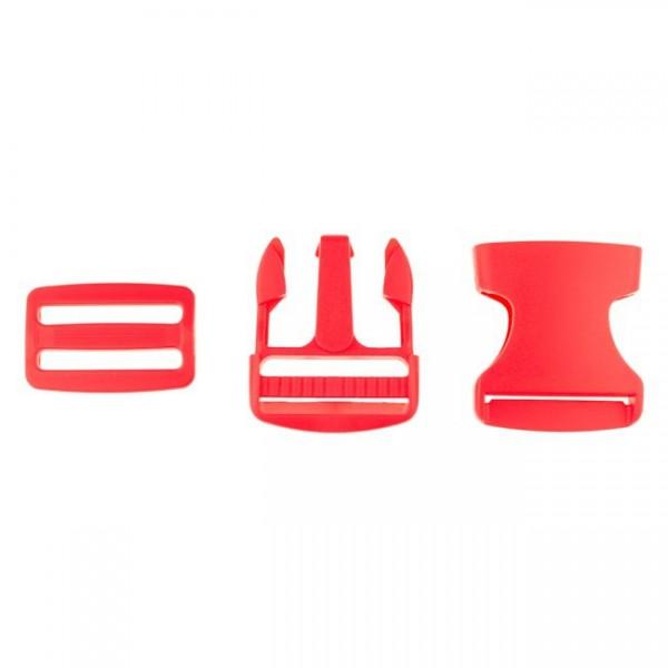 Taschenverschluss - 3,8cm - Rot