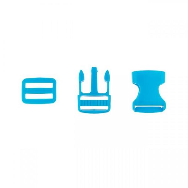 Taschenverschluss - 2,5cm - Blau