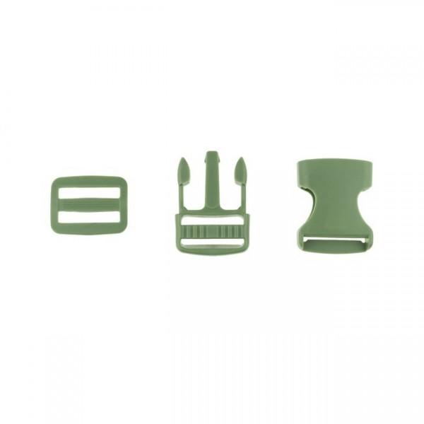 Taschenverschluss - 2,5cm - Army Grün