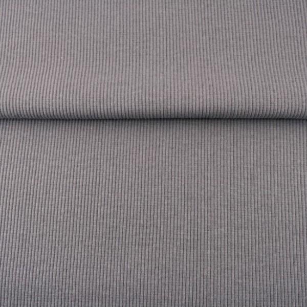 Uni - Bündchen Rippe (2*2) - Grau