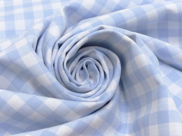 Baumwolle Karo 1cm hellblau