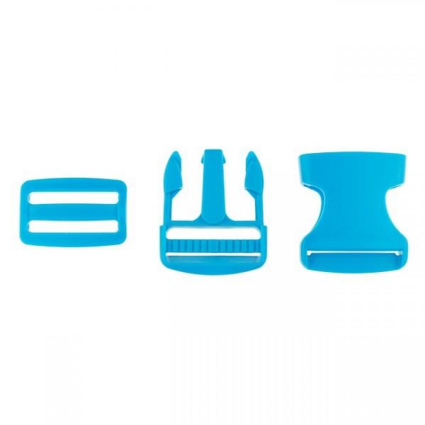 Taschenverschluss - 3,8cm - Blau