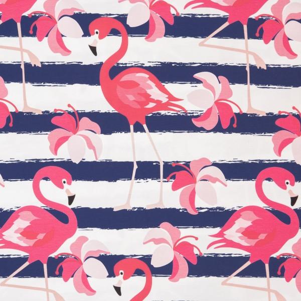 Jersey Flamingo groß, streifen, royalblau