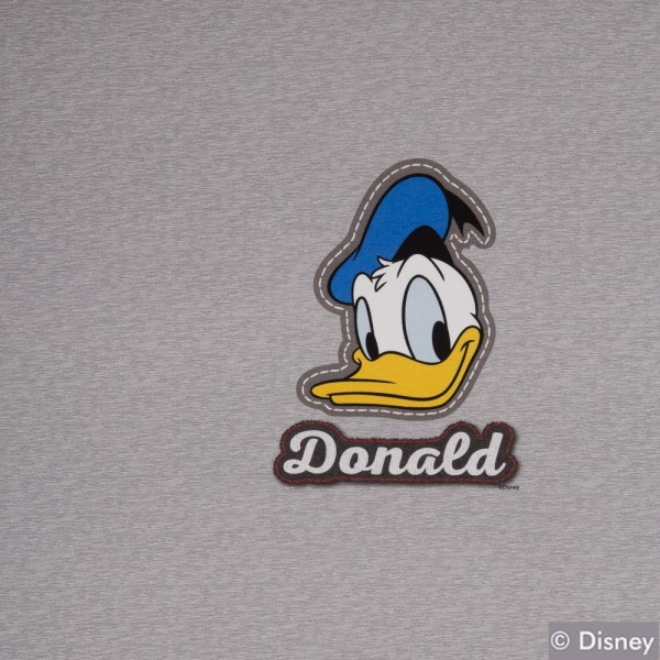 Jersey Disney Panel Donald Duck, grau meliert