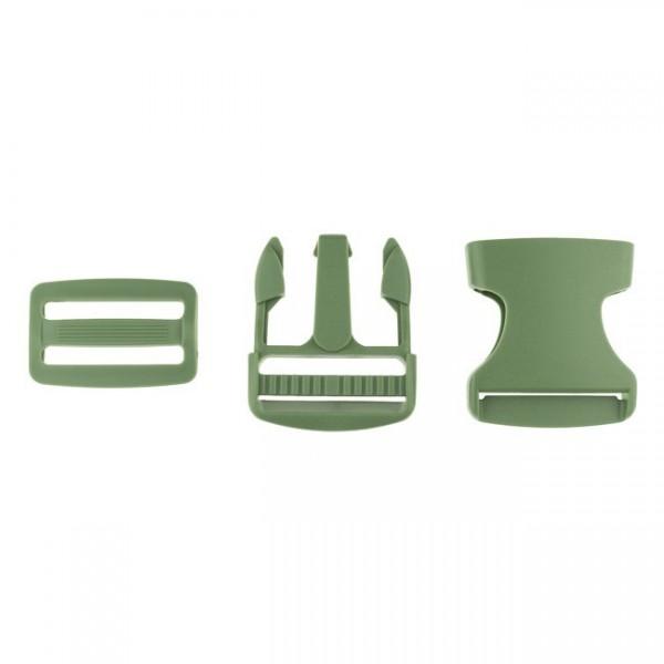 Taschenverschluss - 3,8cm - Army Grün