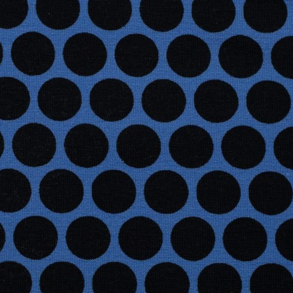 Sweat unangeraut, Punkte, royalblau/schwarz