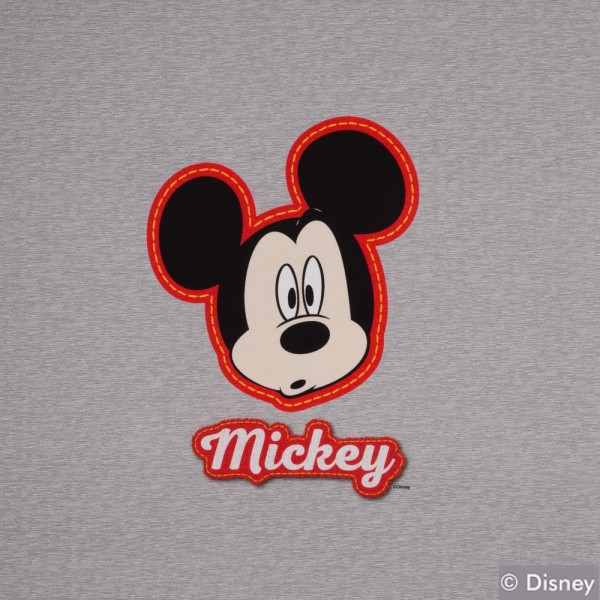 Jersey Disney Panel Micky, grau meliert