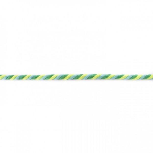 Multicolor gedreht Kordel 6mm - Lime-Apfel