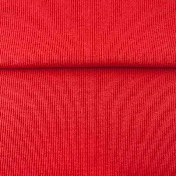 Uni - Bündchen Rippe (2*2) - Rot