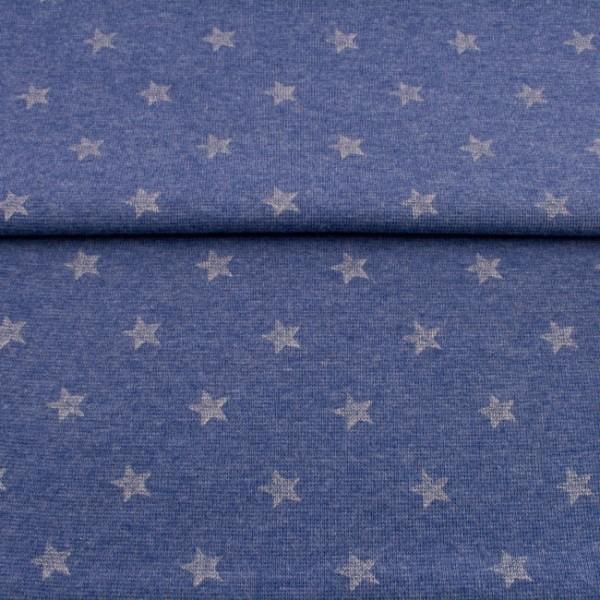 Bündchen meliert jeans mit glitzer Sternen