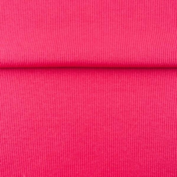 Uni - Bündchen Rippe (2*2) - Pink