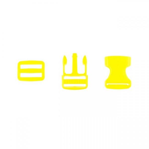 Taschenverschluss - 2,5cm - Gelb