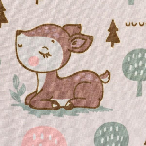 Softshell Rehe, Bäume, hellrosa