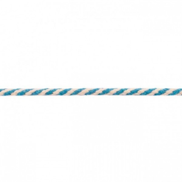 Doppelgewebe Baumwollkordel Zweifarbig - Aqua