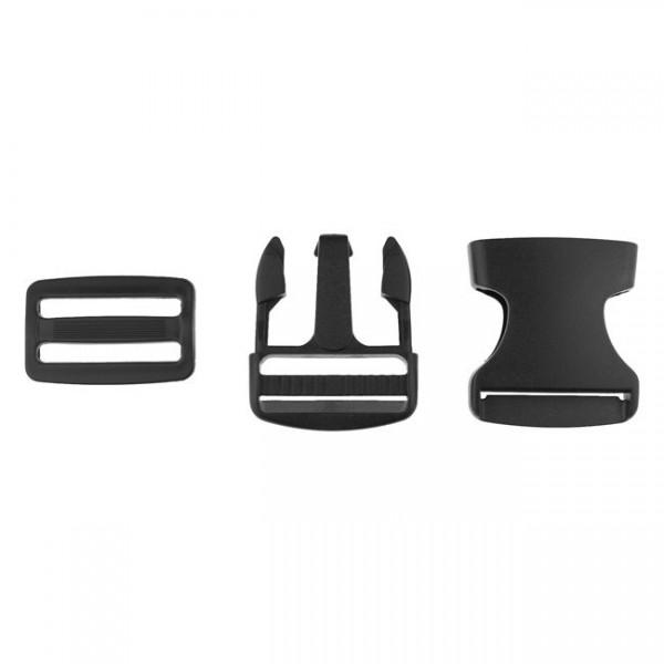 Taschenverschluss - 3,8cm - Schwarz