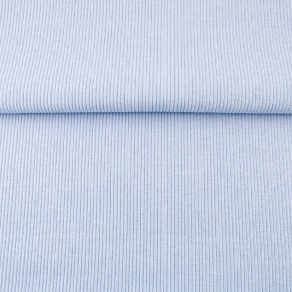 Uni - Bündchen Rippe (2*2) - Hellblau