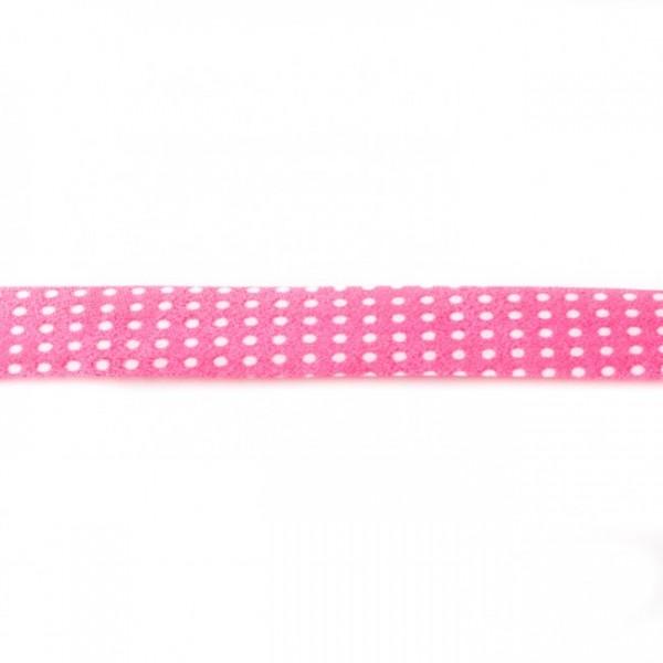 Einfassband Bedruckt Pink