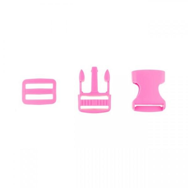 Taschenverschluss - 3,8cm - Pink