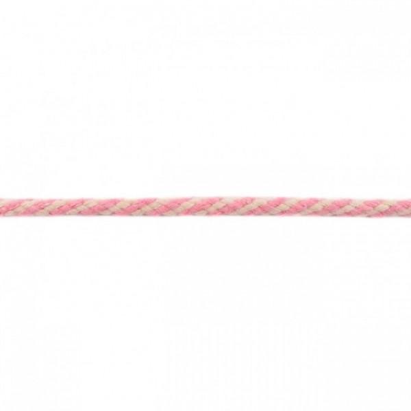 Doppelgewebe Baumwollkordel Zweifarbig - Rosa