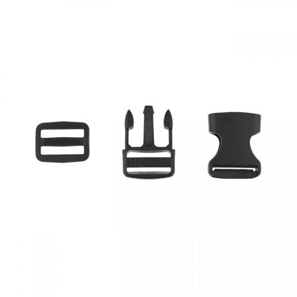 Taschenverschluss - 2,5cm - Schwarz