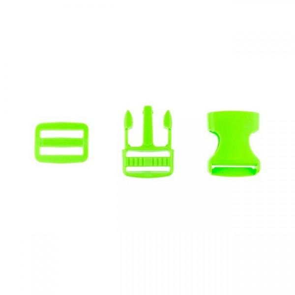 Taschenverschluss - 2,5cm - Grün