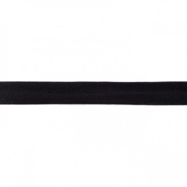 Baumwolljersey Schrägband Schwarz