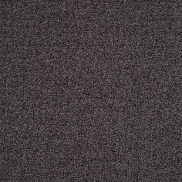 Baumwoll Strickstoff, meliert, schwarz