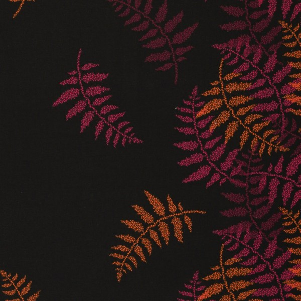 Sweat unangeraut, Blätter, Punkte, pink/orange