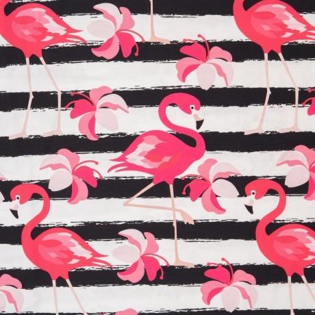 Jersey Flamingo groß, streifen, schwarz