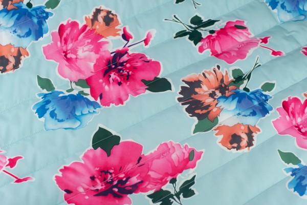 Wasserfest Nylon Bedruckt Blume Hell Blau