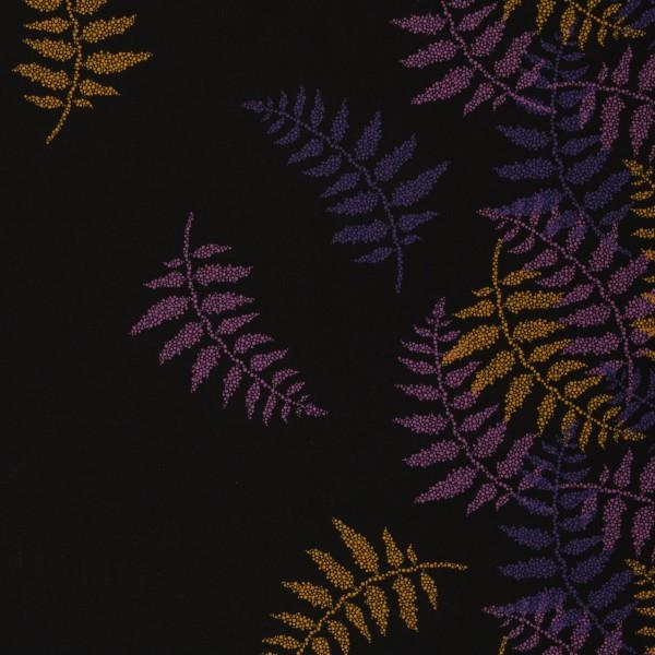 Sweat unangeraut, Blätter, Punkte, lila/oker
