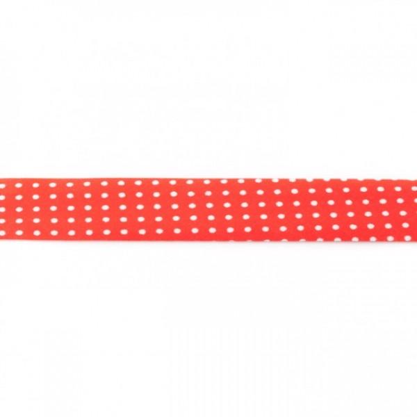 Einfassband Bedruckt Rot