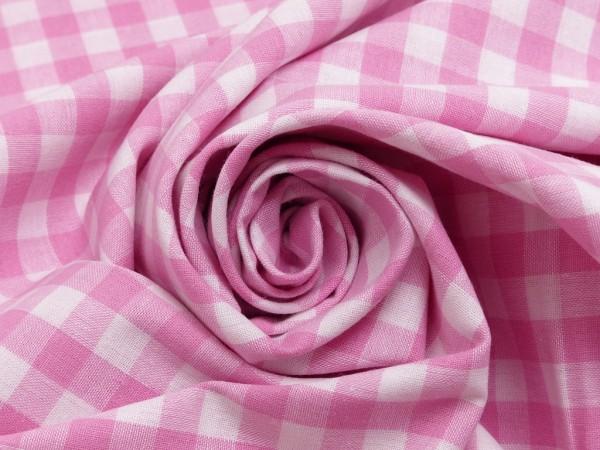 Baumwolle Karo 1cm rosa