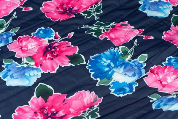 Wasserfest Nylon Bedruckt Blume Marine