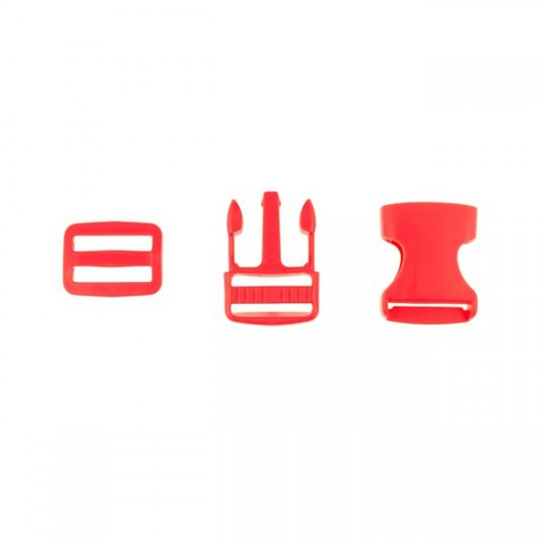Taschenverschluss - 2,5cm - Rot