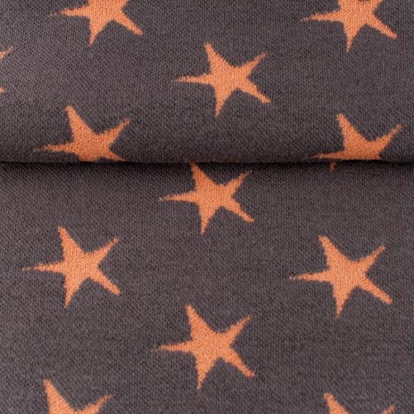 Bündchen dunkelgrau mit lachsfarbenen Sternen